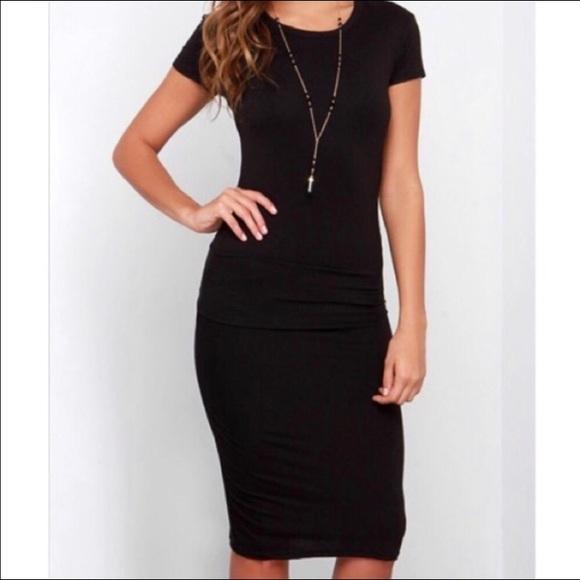 Classic Woman Dresses & Skirts - Classic Black Pin Up Style Midi Dress